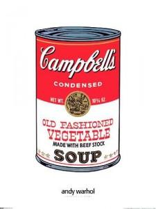 Pintura da lata de sopa campebell