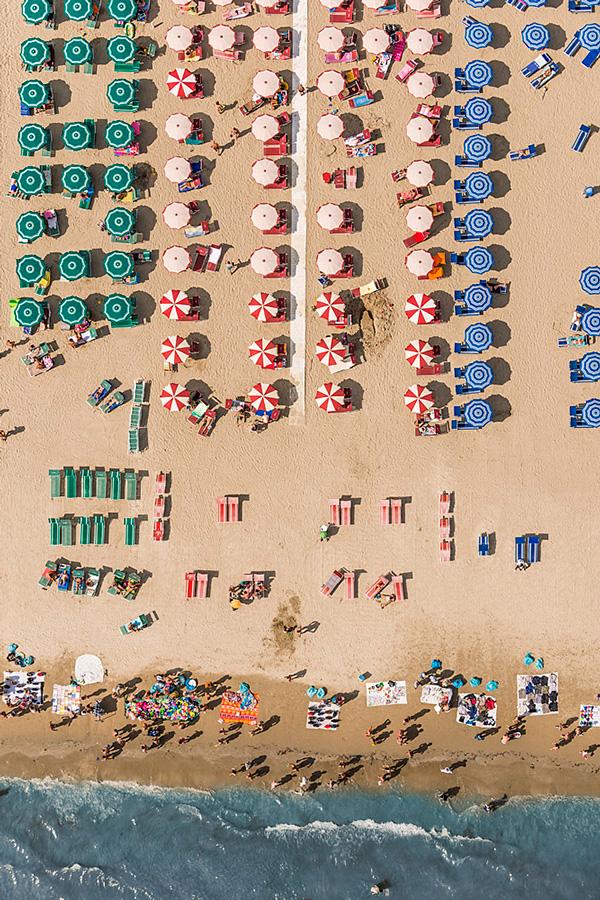 Bernard Lang - Fotos aéreas em praia da Itália