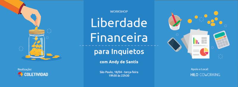 Boteco Design - Workshop Liberdade Financeira com Andy de Santis - Coletividad