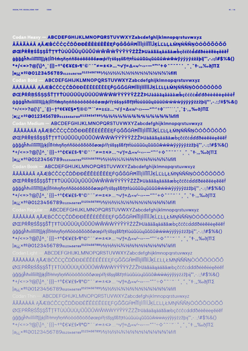 Codan - tipografia exclusiva - Boteco Design