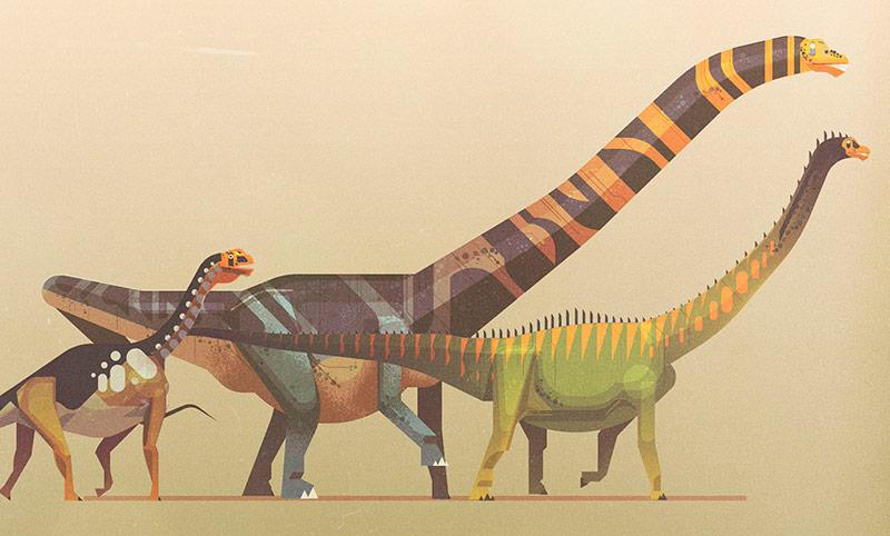 James Gilleard - Lonely Planet - The Dinosaur Atlas - Boteco Design