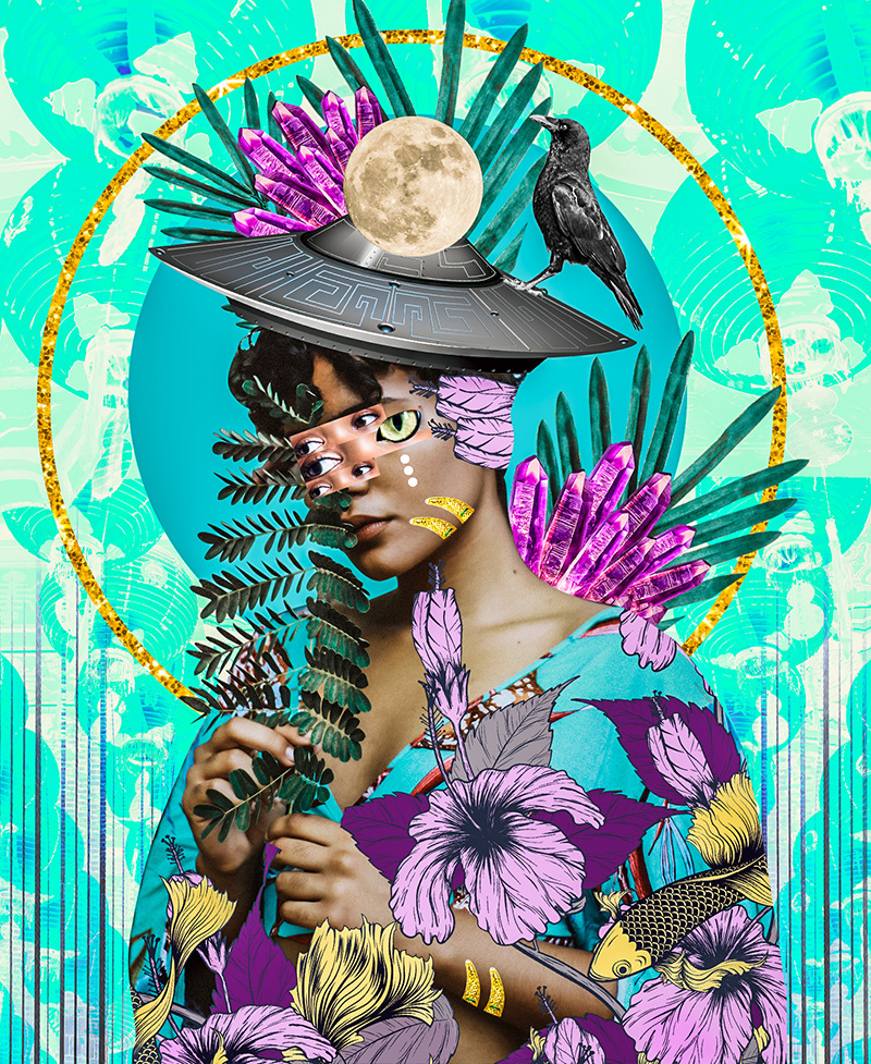 Kaylan M - ilustração colagens - Boteco Design
