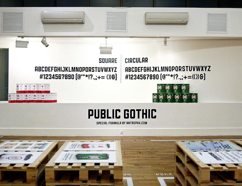 Public Gothic - Família Tipográfica - Boteco Design