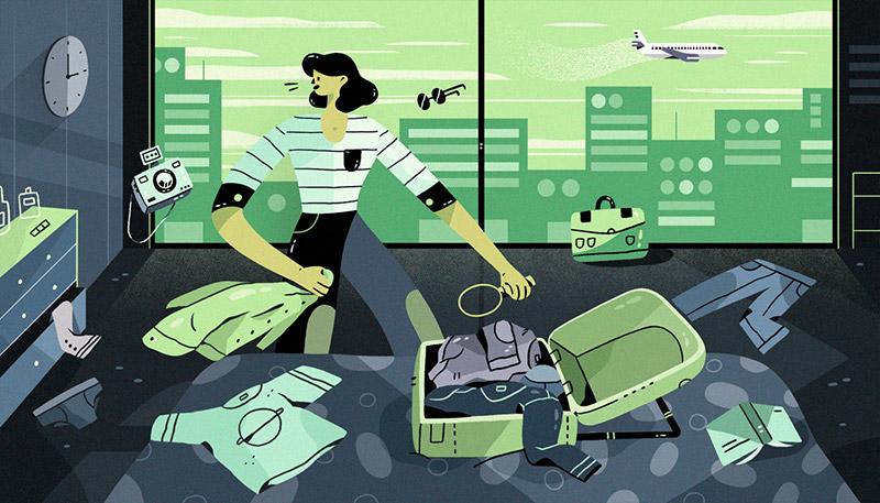 Valeria Alvarez - ilustração Travel Contact - Boteco Design