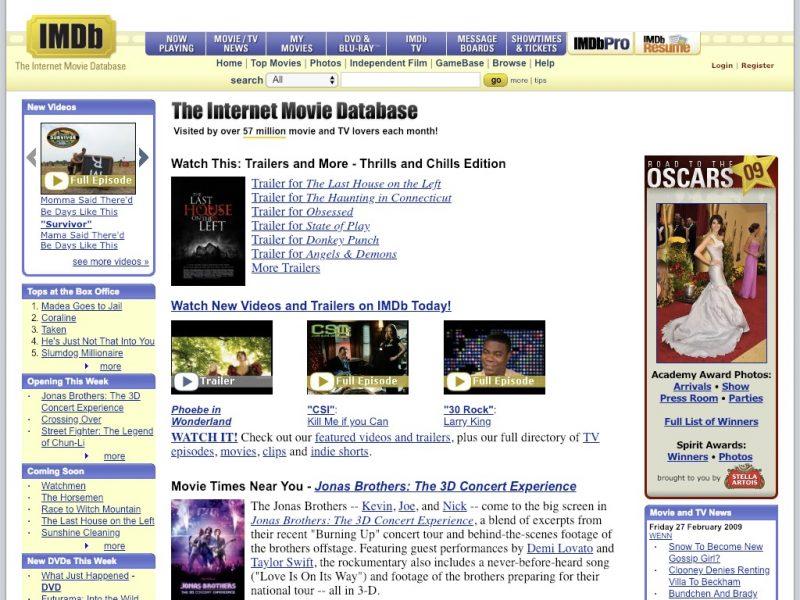 10 year challenge - sites IMDB 2009