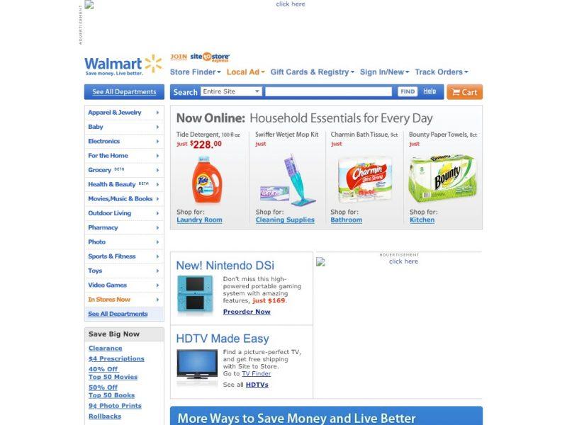 10 year challenge - sites Walmart 2009