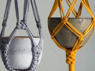 O que é Macramê - hangers para vasos